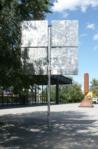 Four Squares in Geviert - Kinetic Sculpture