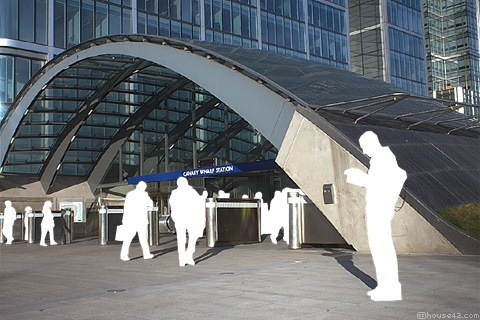 Canary Wharf Tube Station - London
